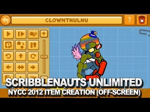 Scribblenauts Unlimited Item Creation (Off-Screen) - NYCC 2012