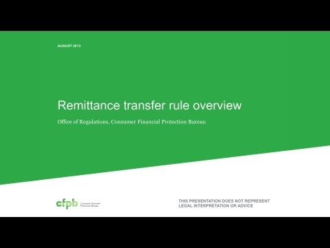 Overview of CFPB's Remittance Transfer Rule