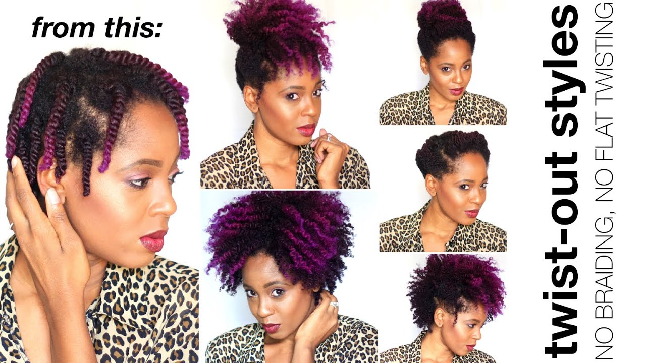 Twist Out Styles On Natural Hair: VERY EASY & Stylish Twist Out Styles