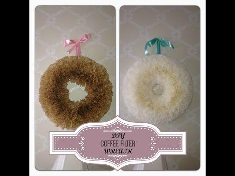 diy-coffee-filter-wreath-♥-super-easy