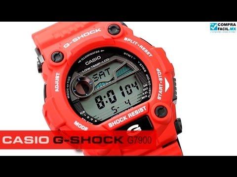 Reloj mx G Comprafacil Youtube Shock Rojo G7900 Casio kwP8On0