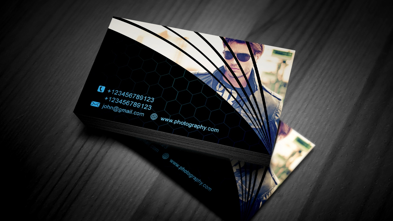 Modern Business Card for Photographers | Photoshop Tutorial - YouTube