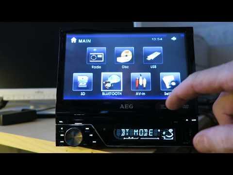 AEG AR 4026 1-DIN DVD/Multimedia player