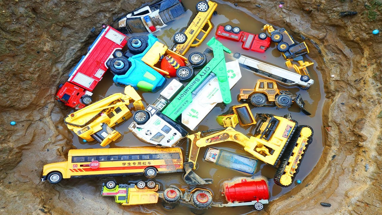 Vehicles for Kids,Cars Toy Review Learning Name Garbage Truck,Fire Truck,Police Cars,Tractor,Taxi