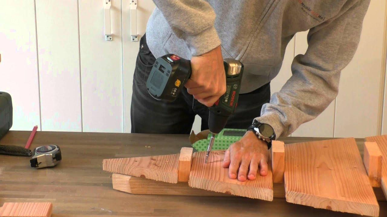 Zelf een kerstboom maken van steigerhout youtube for Steigerhout tuinmeubelen zelf maken