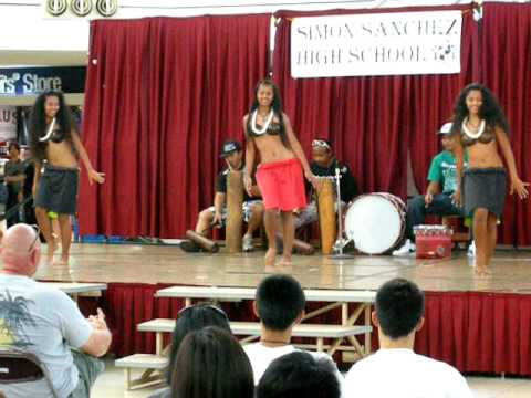 local dancing exhibition by students in micronesia mall, Guam