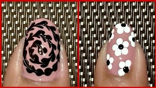 nail art 2019 new nail art using dotting tool nail art compilation💅nail art tutorial