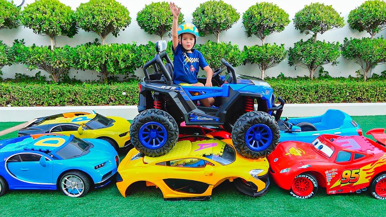 Vlad ve Niki Monster Truck ile oynuyor - Çocuklar için oyun