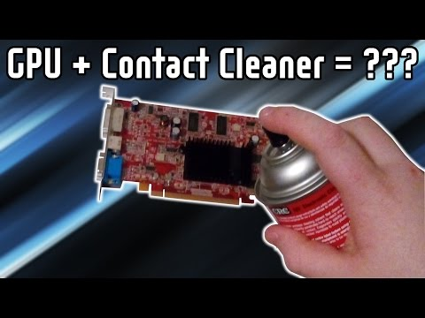 Is it okay to spray contact cleaner on PC parts?