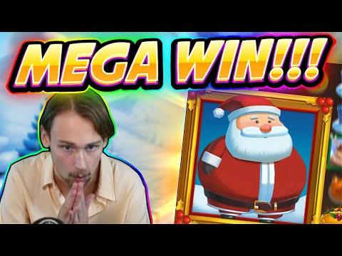MEGA WIN! Fat Santa Big win - HUGE WIN - Casino Game from Casinodaddy Live Stream - 동영상