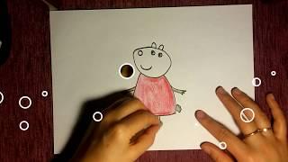 КАК нарисовать ОВЕЧКУ СЬЮЗИ из мультфильма Свинка Пеппа