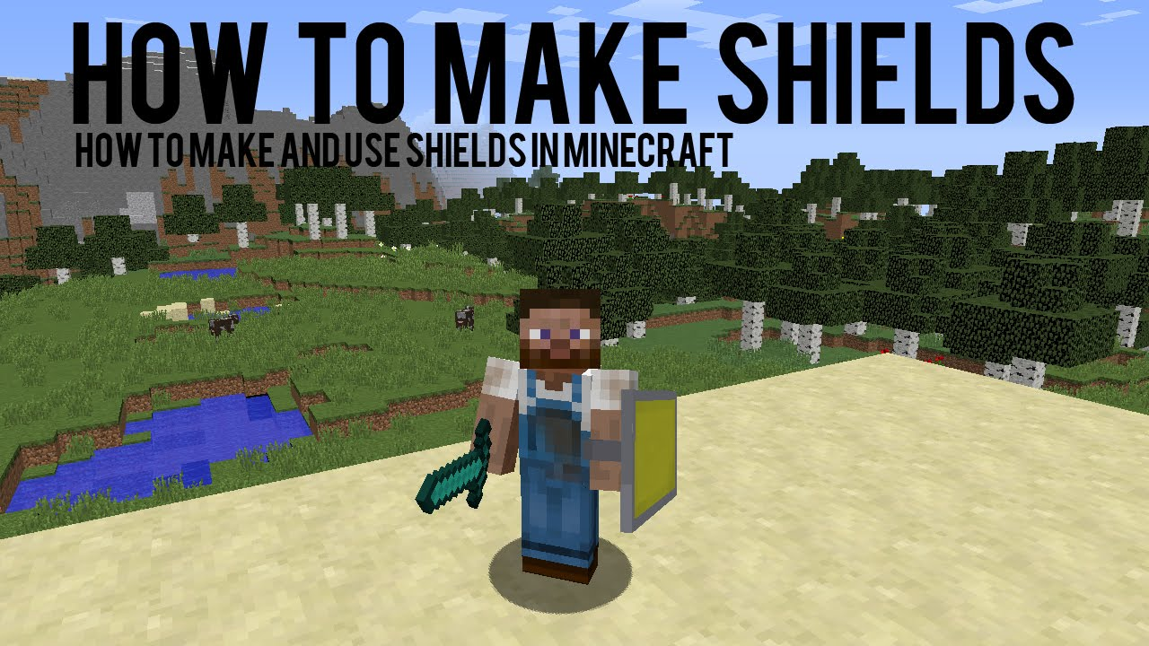 How To Make And Add Colours To Shields In Minecraft 1 9 15w38b Youtube