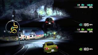 Need for Speed: Carbon, PS3, Split Screen 41 Porsche Cayman Face Off