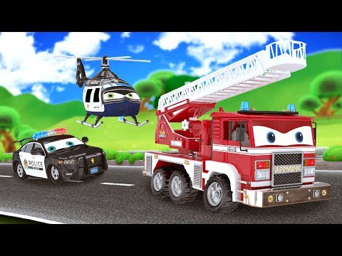 Download Youtube: appMink Fire Truck | Police Cars Police Helicopter | go Kart | School bus | Number Learning for kids