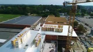 Sportcomplex Eeklo vanuit de lucht