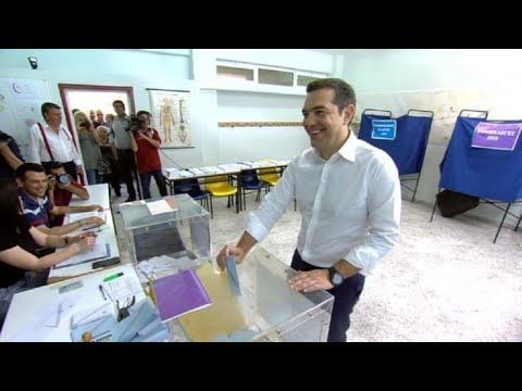 Elections européennes : vote d'Alexis Tsipras | AFP Images
