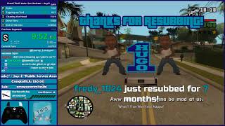 GTA San Andreas No Major Glitches (Dupeless) Speedrun Practice - Hugo_One Twitch Stream - 2/13/2018