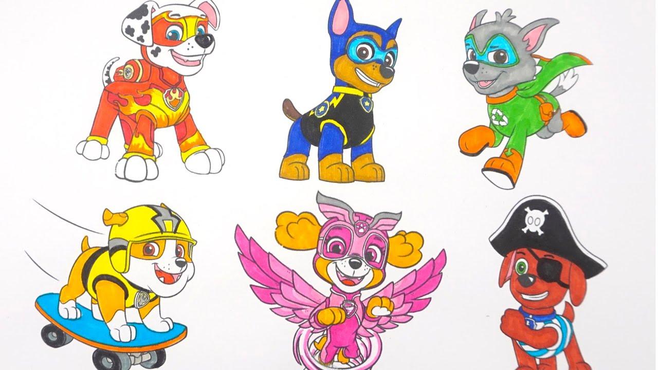 Щенячий патруль раскраска и игрушки для детей