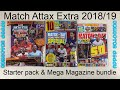 Match Attax Extra 2018/19 Starter Pack & Magazine Mega bundle