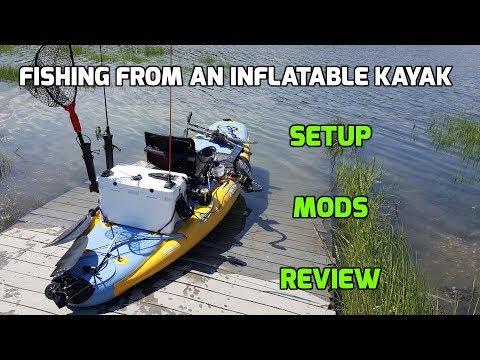 Hobie i11s Inflatable SUP/Kayak Setup for Fishing