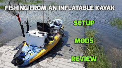 Hobie i11s Inflatable SUP/Kayak Setup for Fishing