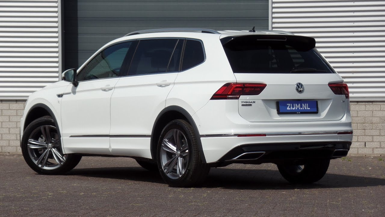volkswagen new tiguan allspace r line 2018 pure white 19. Black Bedroom Furniture Sets. Home Design Ideas