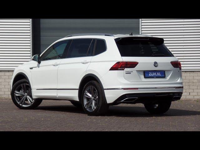 Volkswagen NEW Tiguan Allspace R-line 2018 Pure White 19 inch Sebring walk around & detail inside