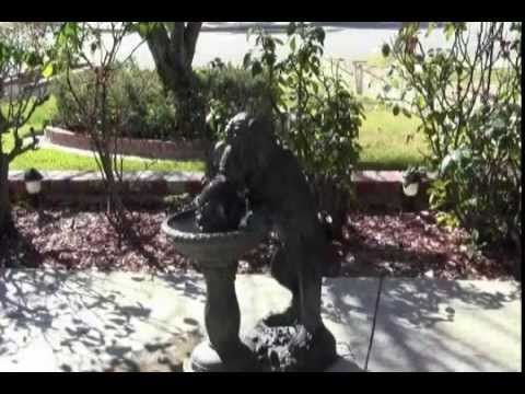 Dog Water Fountain By Baltic_Ave.... Outdoor Lawn Garden Decoration Decor    YouTube