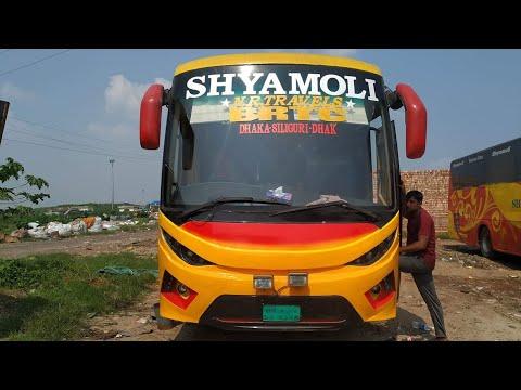 Dhaka To Shiliguri | Shyamoli NR travels Hino RN8 I International Bus Service | Interior full review