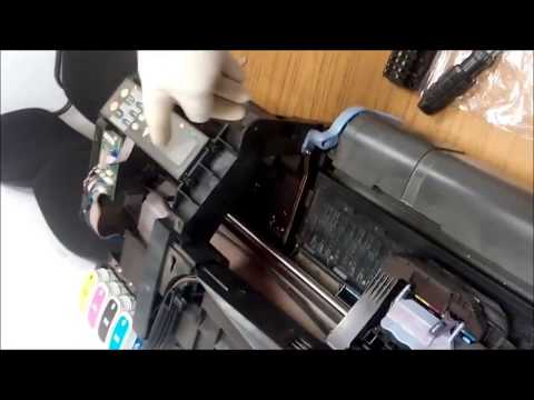 Замена ремня каретки на плотере HP DJ500