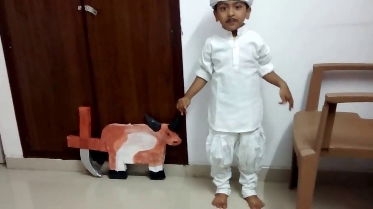 my kid u0027s fancy dress performance as a farmer theme community