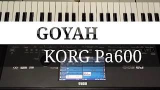 GOYAH karaoke lirik cover KORG Pa600