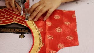 SAREE blouse Design Cutting and stitching