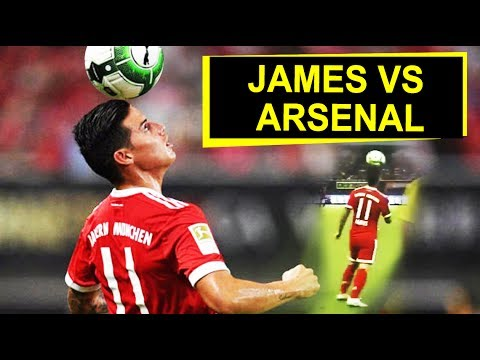 James Rodríguez vs Arsenal | Bayern Munich 1 Arsenal 1
