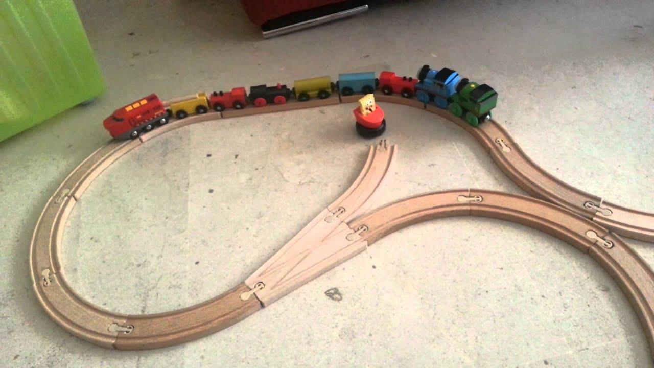 Tren madera juguete fase2 ikea tomas brio youtube for Juguetes de madera ikea