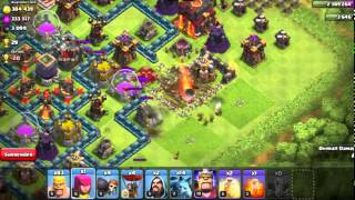 Clash of Clans | Can level 1 earth quake spell break max level walls here is the proof