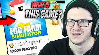 This New Simulator is VERY WEIRD... (Roblox Egg Farm Simulator)