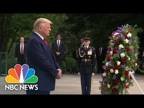 Live: Trump Participates In Memorial Day Tribute Events | NBC News