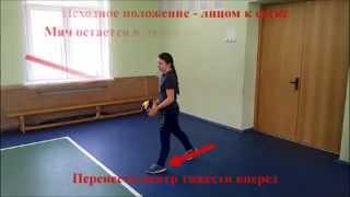 Техника нижней прямой подачи в волейболе