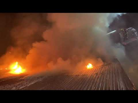 İstanbul Beykoz'da cam atölyesi gece yarısı alev alev yandı