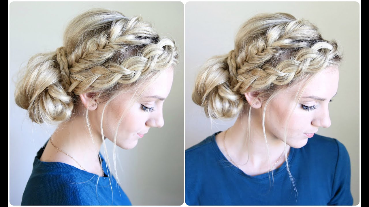 hairstyles bun braid cute mixed braids buns hair braided styles nice long hairdressing