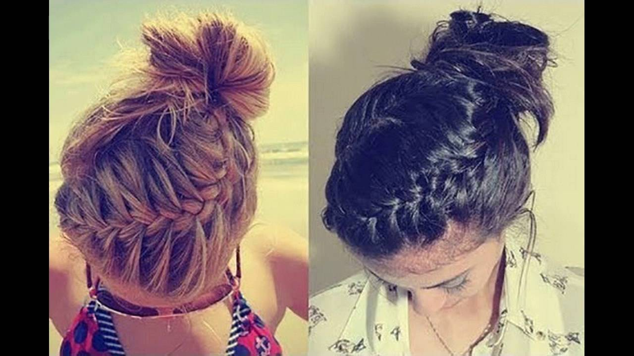 Swirling French Braid With High Bun Is Charming Hairstyle Steps To Make At  Home
