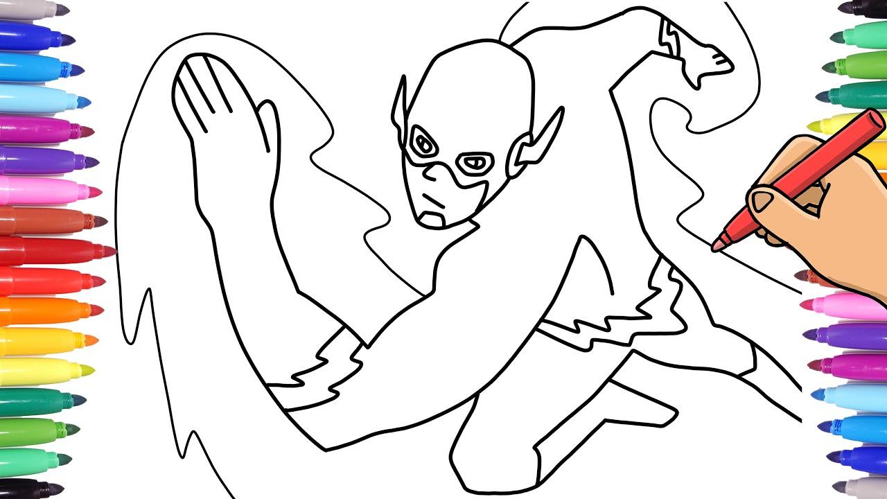 Download Flash Superhero Coloring Pages | Coloriage super héros ... | 720x1280