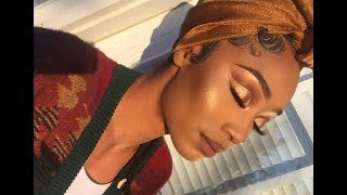 Gold Smokey Cut Crease Makeup Look | MakeupTiffanyJ