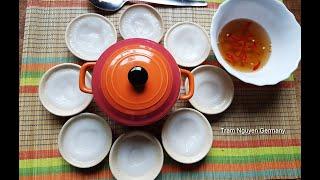 Cách làm BÁNH BÈO -100% bột gạo SA ĐÉC chia sẻ cách đổ bánh bèo có xoáy lúm đồng tiền - Tram Nguyen