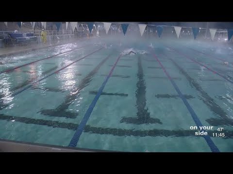 St. Petersburg Aquatics Swim Team Braves Cold To Practice Outside