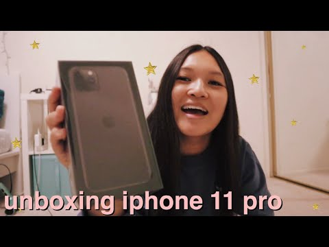 Space Gray Iphone 11 Pro Unboxing