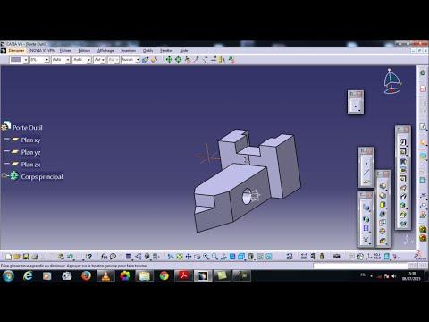 Catia V5 : Dessin D'un Porte-outil / Drawing A Toolholder