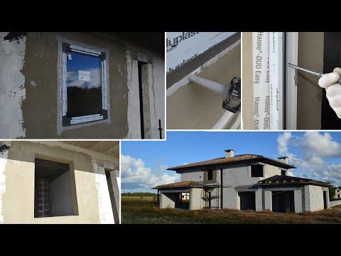 Montaż okna w ścianie z betonu komórkowego