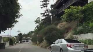 Take a driving tour with me of Sunset Plaza Drive in the Hollywood Hills- Sunset Strip